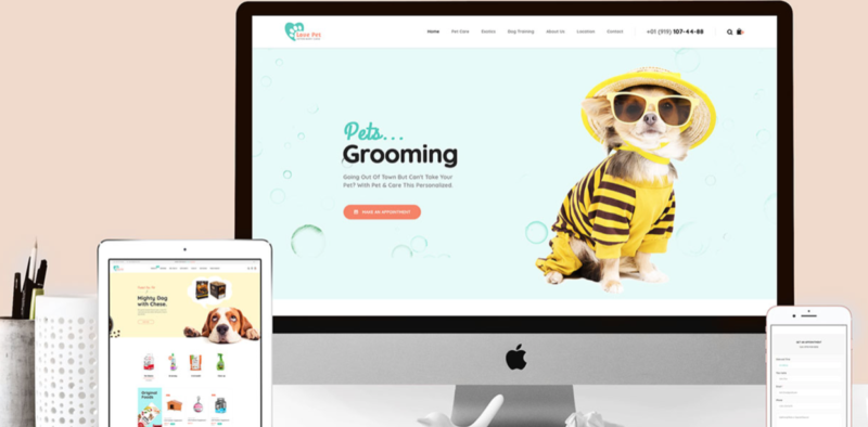 Pet grooming website