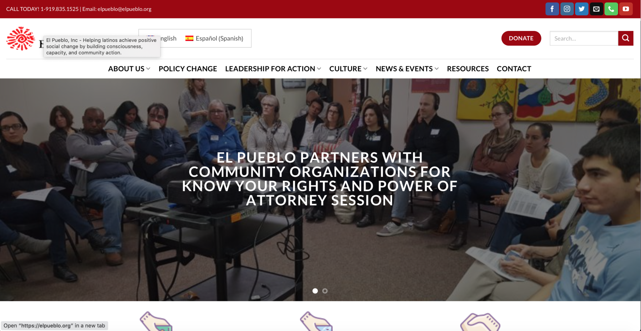Screen Shot El Pueblo partners