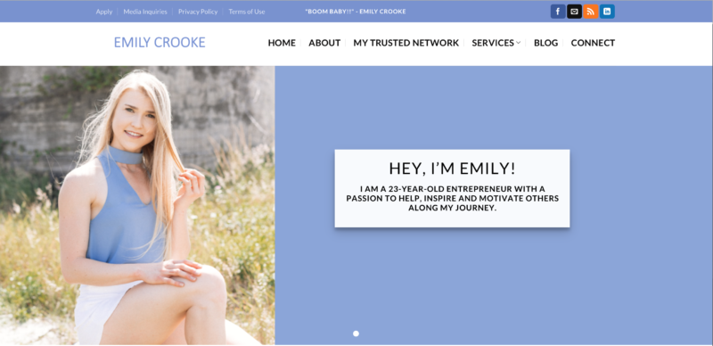 Screen Shot Emily Crooke's website
