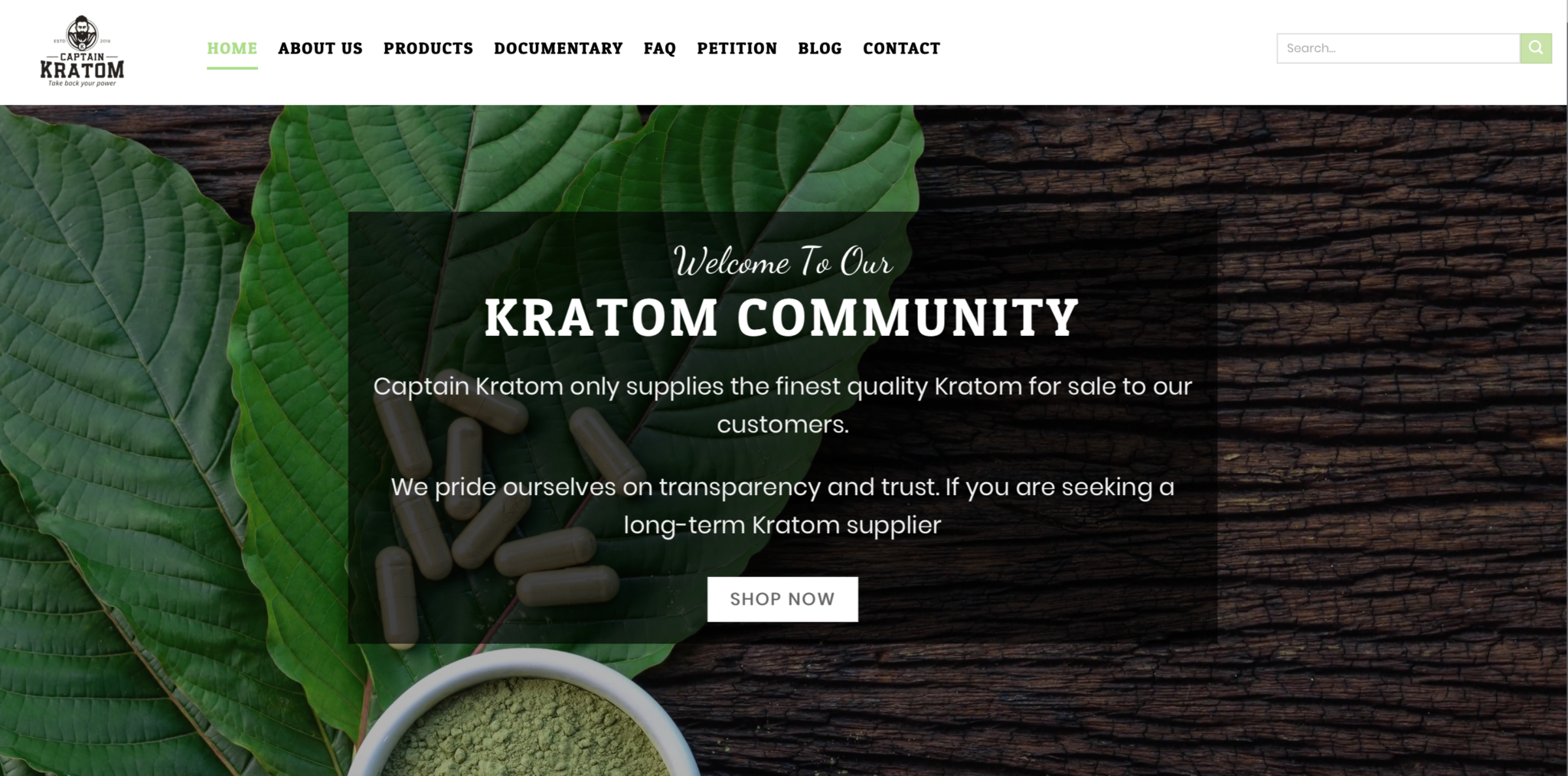 Screen shot of Kratom Community