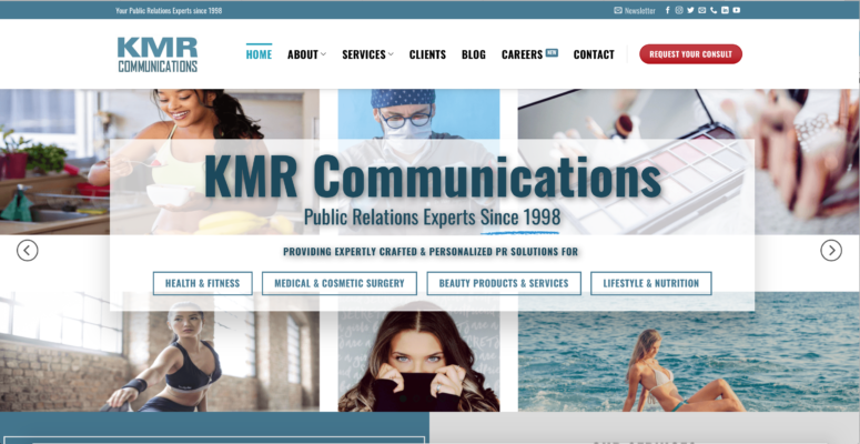Screen shot of KMR communications